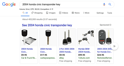 Transponder Key Search